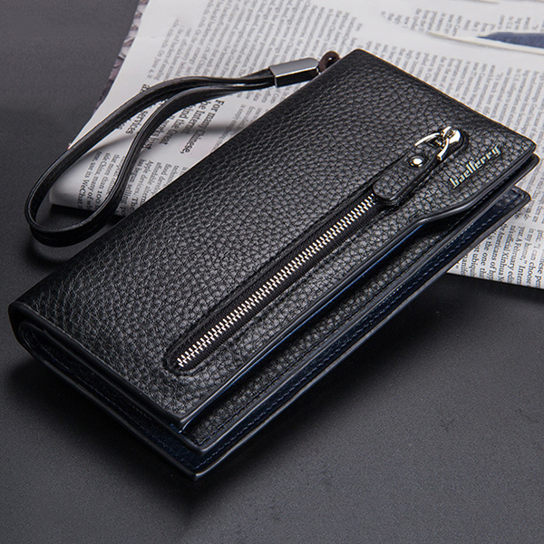Men Long Purse Mens Wallet Money Clip Business Clutches Bag Credit Card Holder