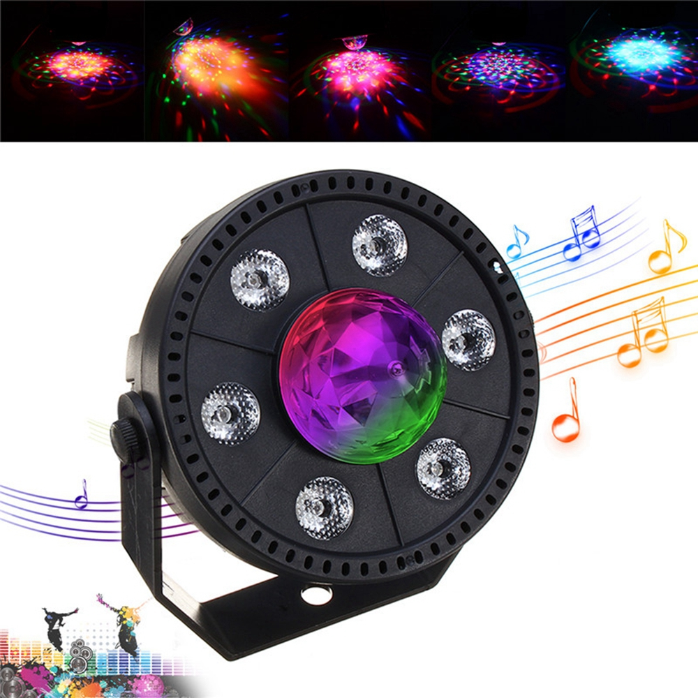 RGB LED Stage Light Strobe Light Crystal Ball Party Clu