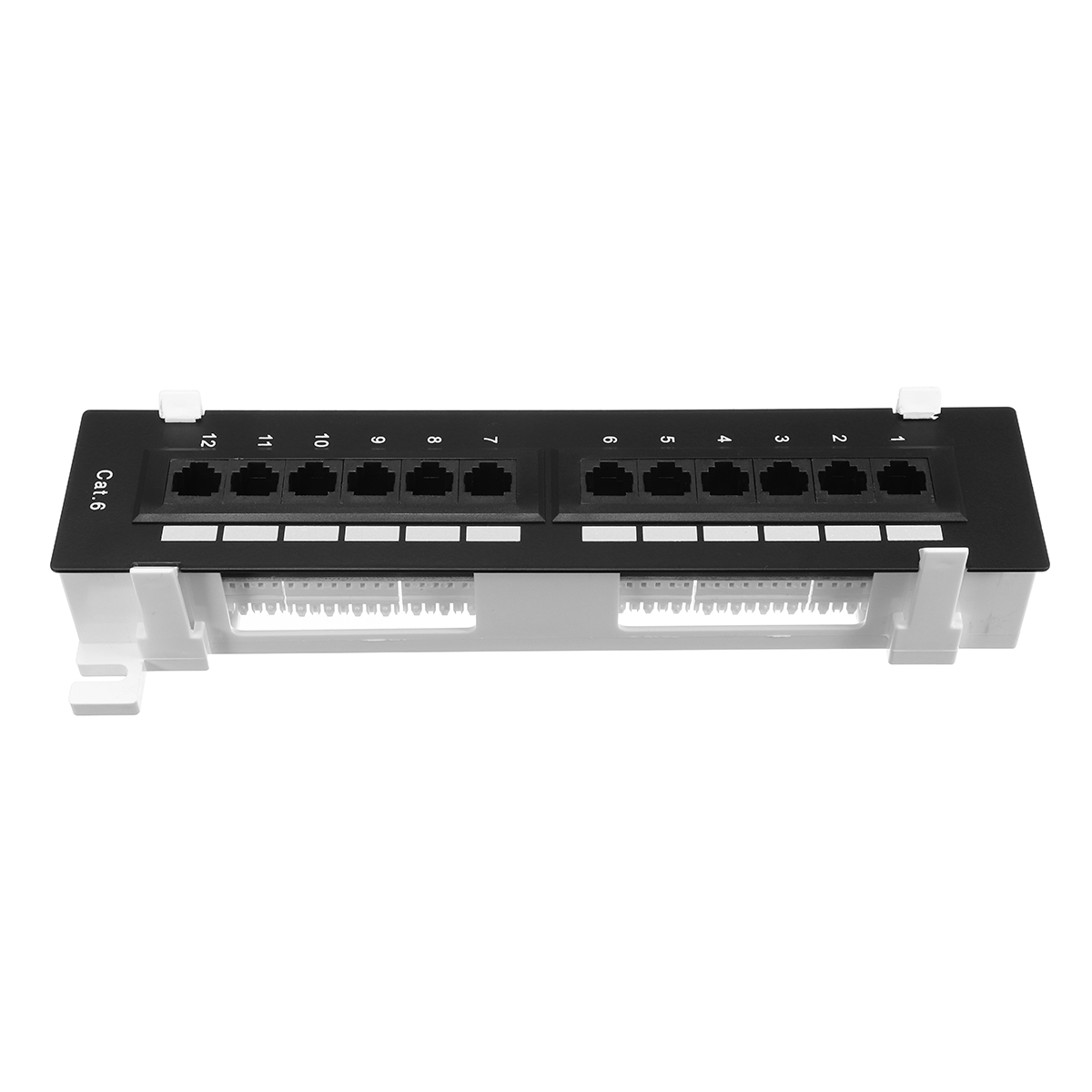 12 Ports CAT-6 Mount Patch Panel Network Wall-Mount Mounting Rack Frame Bracket