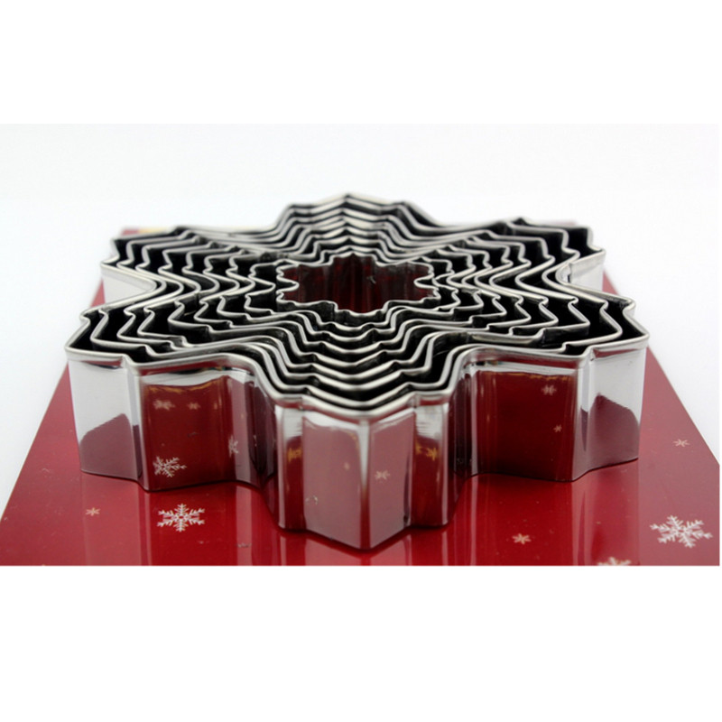 New Stainless Steel Star Snowflake Biscuit Cutter Cookie Fondant Cake Mould DIY Baking Tool