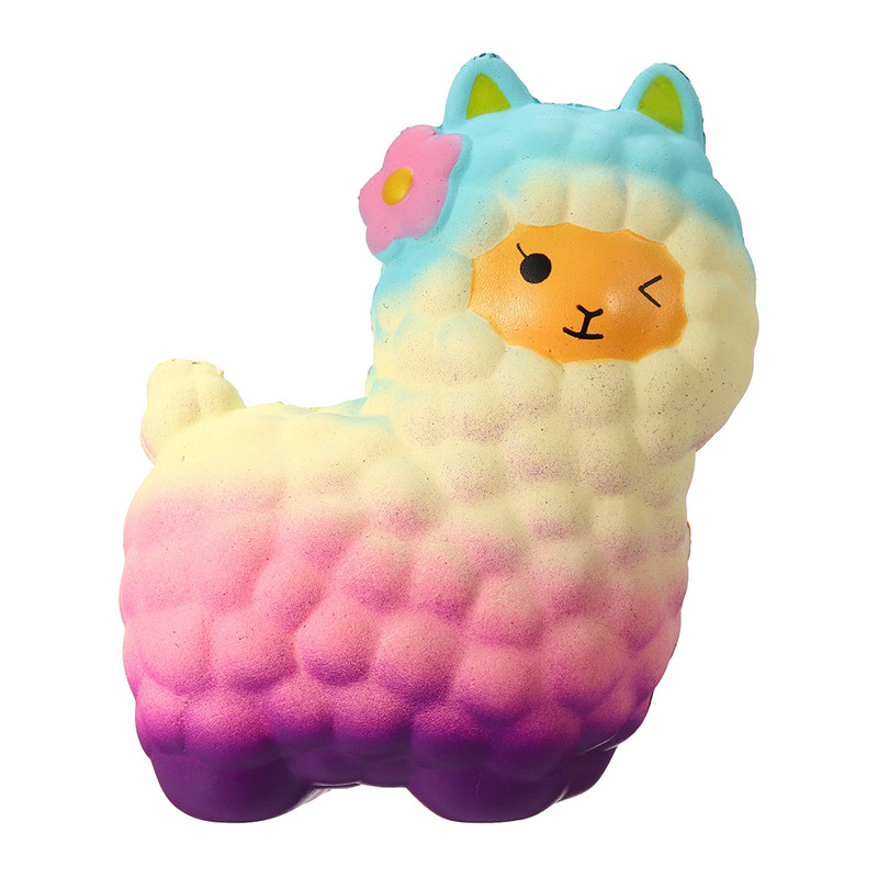 17CM Jumbo Alpaca Sheep Squishy Soft Slow Rising Kawaii Gift Squeeze Kid Toys
