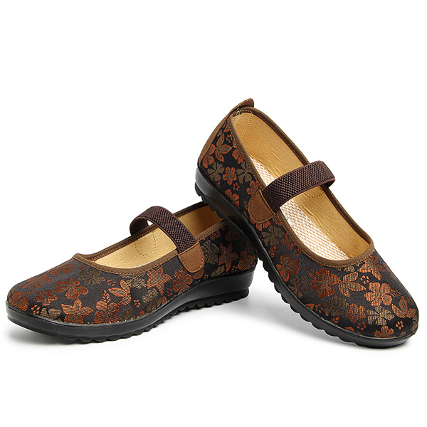 Women Soft Casual Outdoor Cloth Flat Loafers Shoes