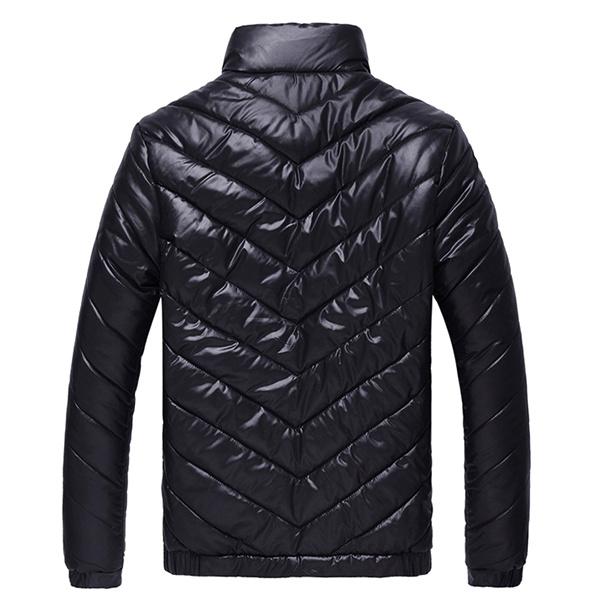 Men Winter Windproof Light Weight Thick Warm Padded Jackets Zipper Cotton Coats S-3XL