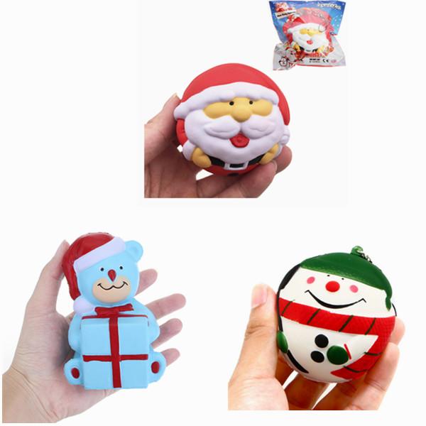 SquishyFun Squishy Снеговик Отец Рождество медленно растет с коллекцией подарков Подарочный декор