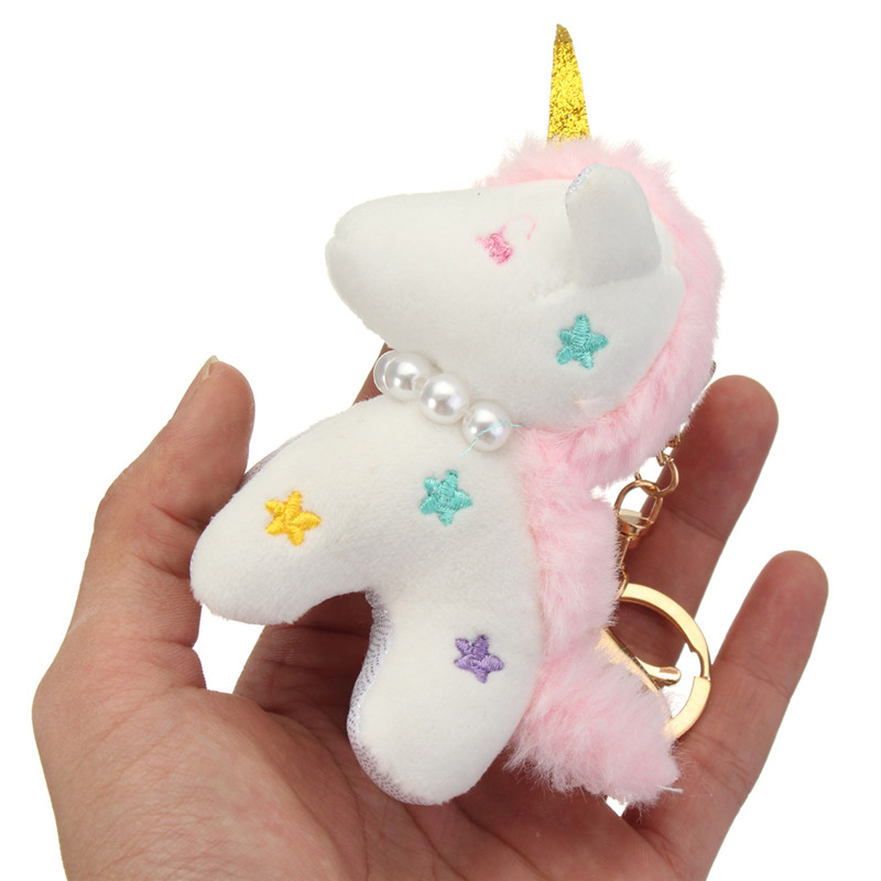 Unicorn Plush Toy Key Buckle Pendant Ornaments Stuffed & Plush Toys