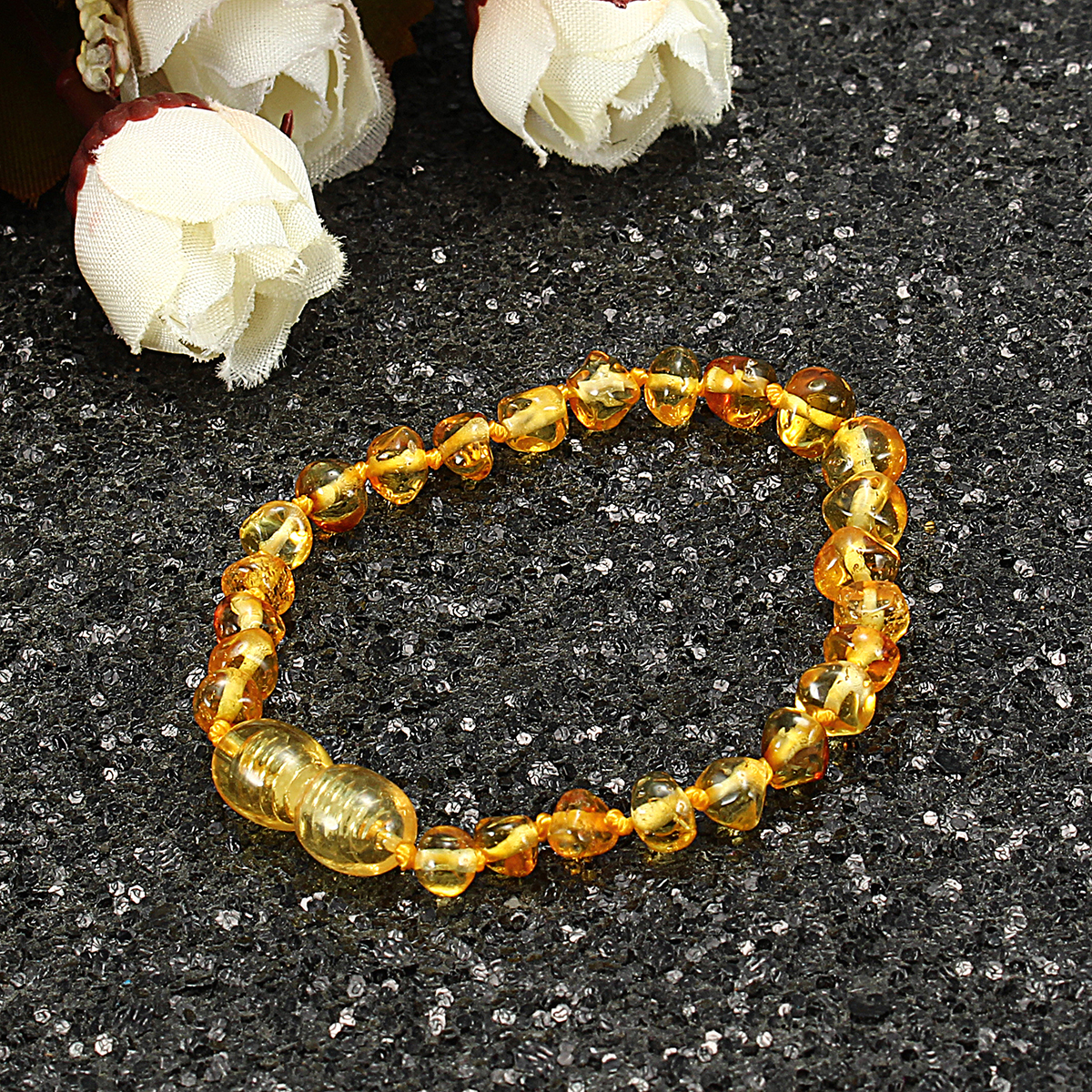 Fashion Multicolor Natural Amber Bracelet Gift for Women