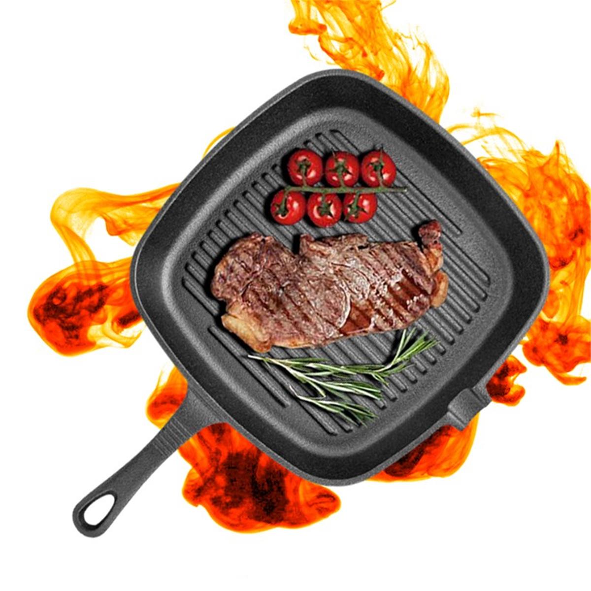 Image of Non-StickCastEisenGrillBratpfanneGrill BBQ Küche Kochen Backen Werkzeug Antihaft-Pfanne