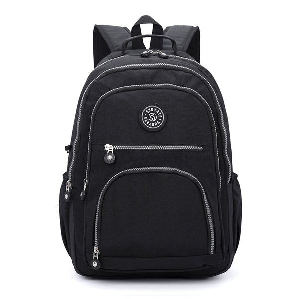 Women Nylon Multi-Compartment Travel Backpack