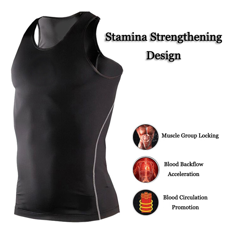 SHENGSHINIAO Men Sports Fitness Clothing Close-fitting Soft Breathable Quick-drying Training Vest