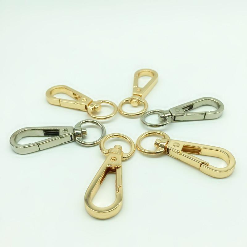 EDC Tool Alloy Keychain Spring Belt Bag Clip Hook Carabiner Buckle Keyring