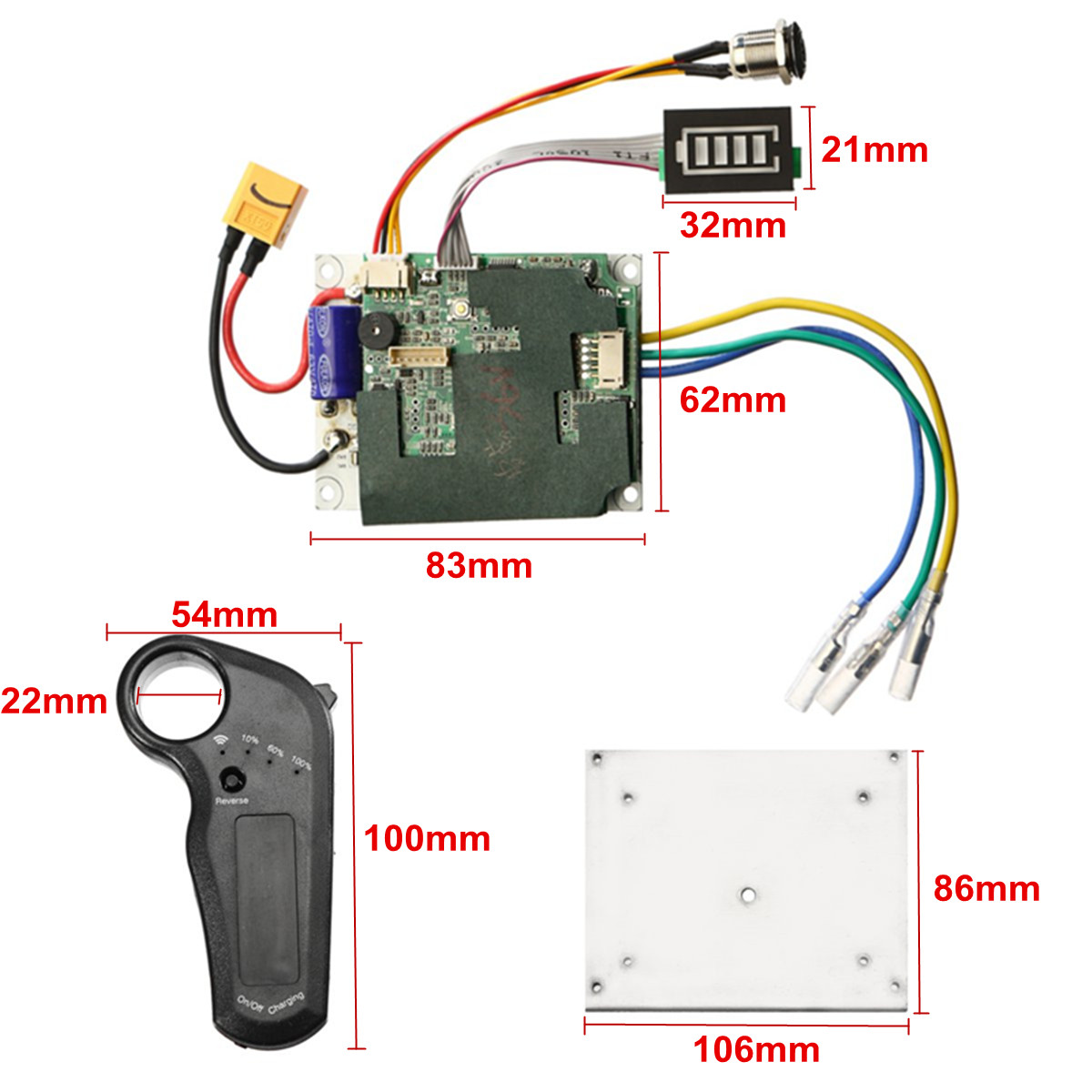 24/36V Single Motor Electric System Driver Noninductive Longboard Skateboard Controller Remote ESC Substitute