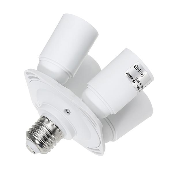 4 In 1 E27 To E27 Base Light Lamp Bulb Adapter Holder Splitter Socket AC100-240V
