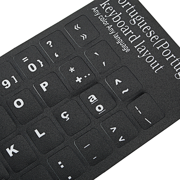 Black Portuguese Language Letter Alphabet Keyboard Stickers Layout For Computer Laptop Notebook PC