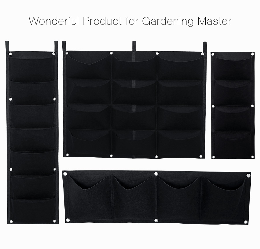 KCASA KC-BT4121 Gardening Grow Pocket Indoor Outdoor Wall Hanging Planting Storage Bag Seedling Bags