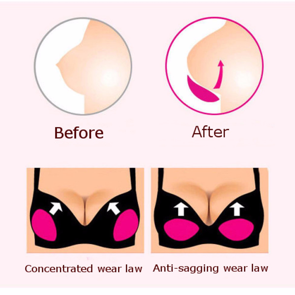 1Pair Stick On Adhesive Push Up Bra Inserts Pads Breast Bikini Swimwear Enhancers
