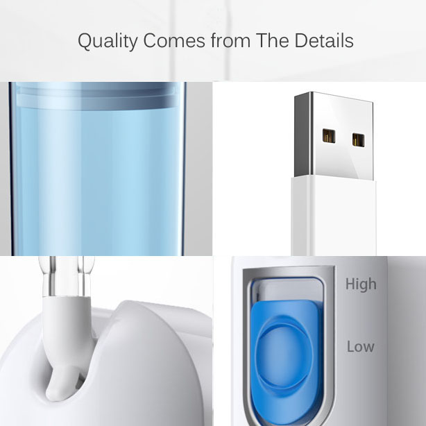 Loskii BR-69 Portable Smart Water Flosser Dental Professional Rechargeable 220 ml Water Flossing Cordless Oral Irrigator