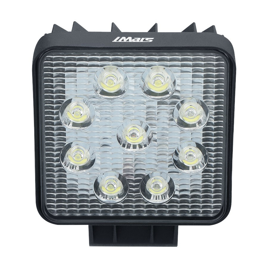 Pair iMars™ iM-L1 27W 6000K Spot Beam LED Work Light IP67 for Truck Boat Square Off Road 4X4
