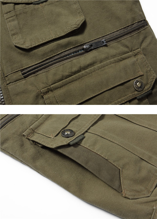 Outdooors Multi Pocket Tactical Functional Photography Fishing Spring Fall Sleeveless Vest