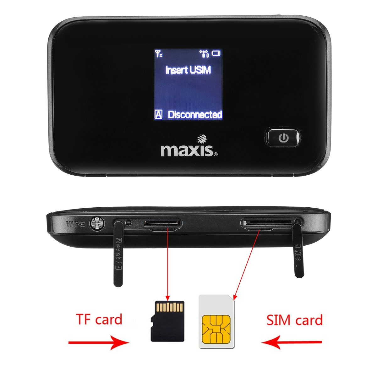 4G 3G LTE Portable Wireless Mobile Hotspot Router with SIM TF Card Slot for iPhone Mobile Phone