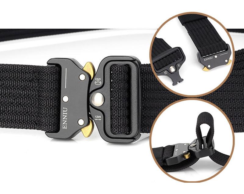 125cm ENNIU TB13 3.8cm Nylon Waist Belts Alloy Buckle Heavy Duty Rigger Military Tactical Belt