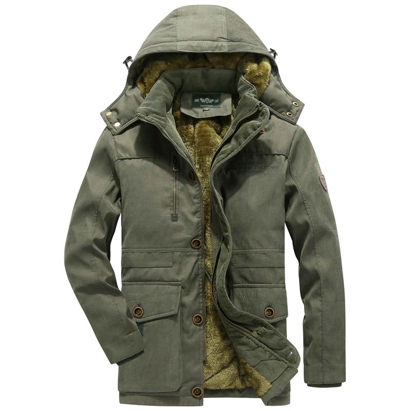 Fleece Warm Plus Thick Winter Windproof Hood Outdoor Jacket