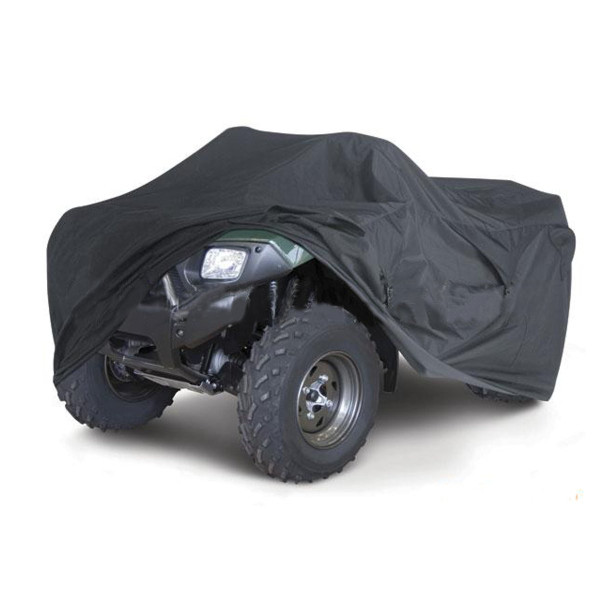 Waterproof Motorcycle Bicycle PU Cover Quad ATV Vehicle Scooter Motor Bike Universal Black M XL