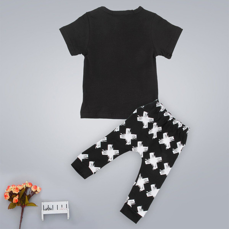 2Pcs New Toddler Baby Boys Fox T-shirts Long Pants Leggings Outfits Clothing Set Costume
