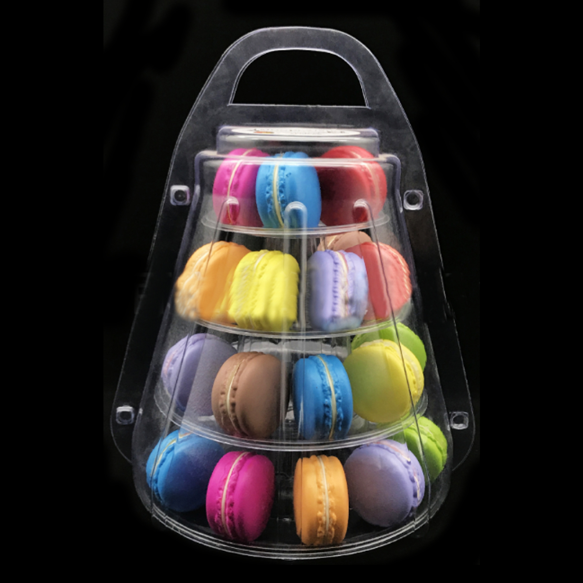4 Tiers Mini Macaron Tower Bottles Display Stand Case Round Party Decor Wedding Supplies