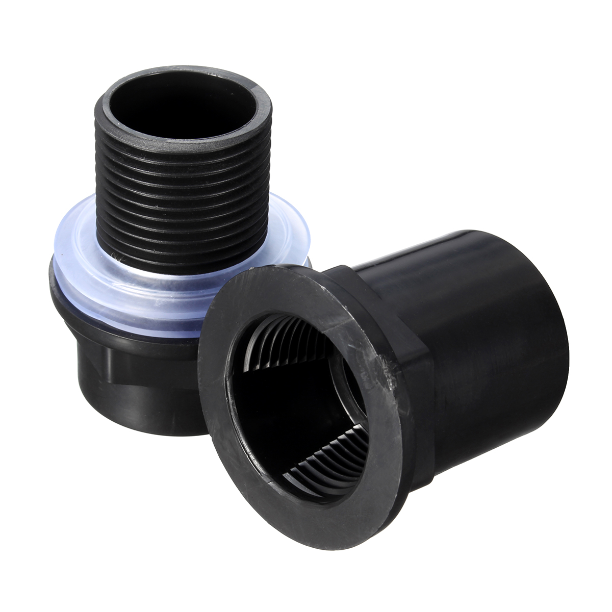 Aquarium PVC Connector Plastic PVC Pipe Butt Fish Tank Straight Up Pipe Fitting Joint Connection