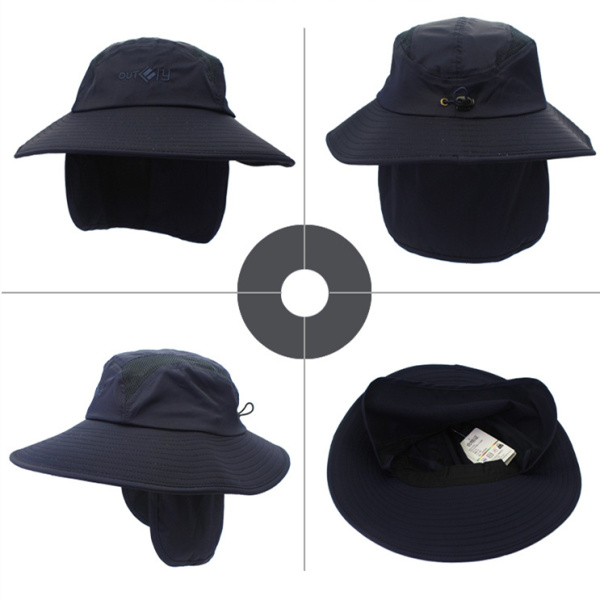 Fashion Men Wide Birm Sun Hat Ear Neck Protaction Outdoor Quick-dry Hunting Fishing Hiking Hat