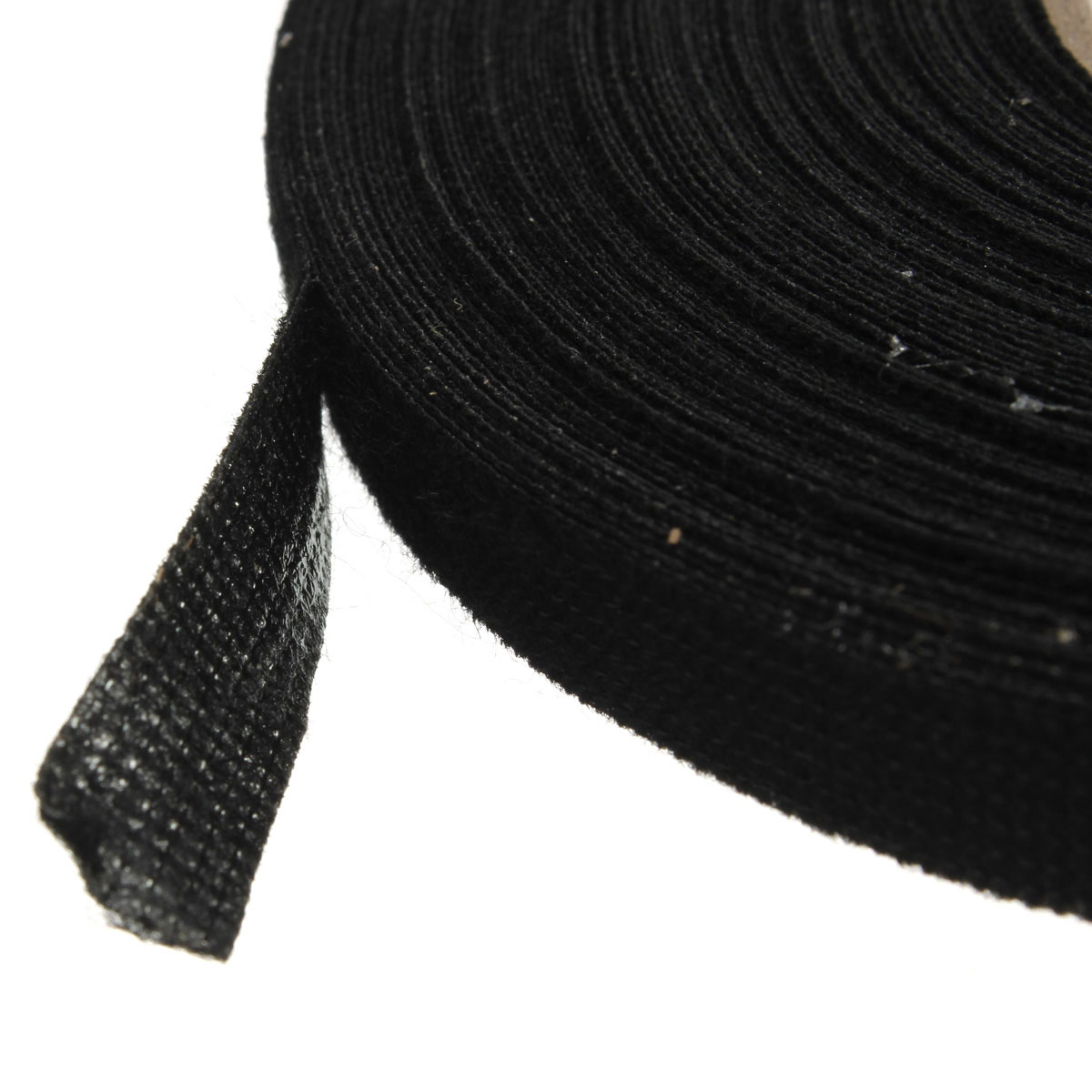 9mm x 25m Black Adhesive Cloth Fabric Tape Cable Looms Wiring Fabric Tapes