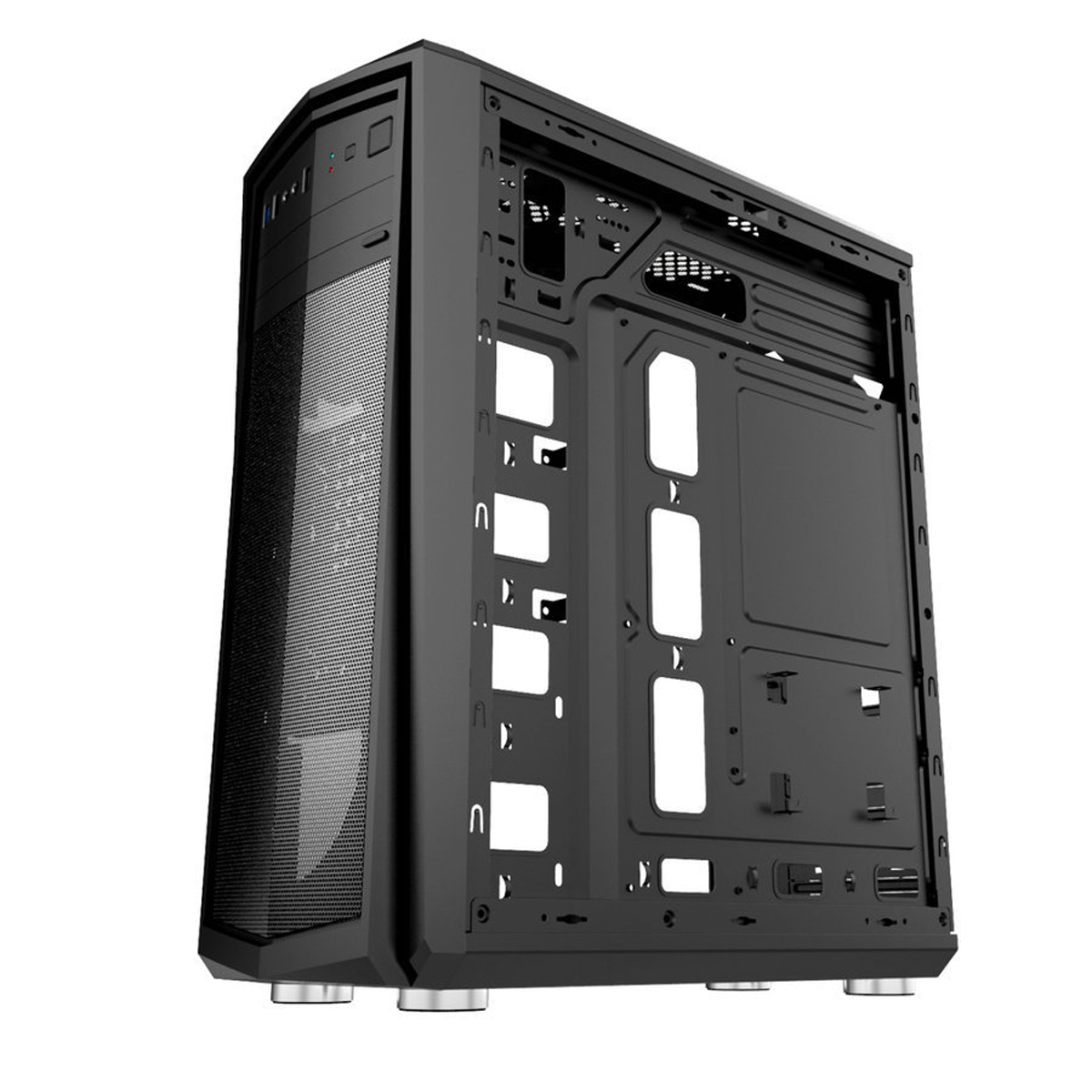 Transparent Side Panel ATX PC Case Desktop Computer Case for ATX Micro-ATX Mini-ITX Motherboard