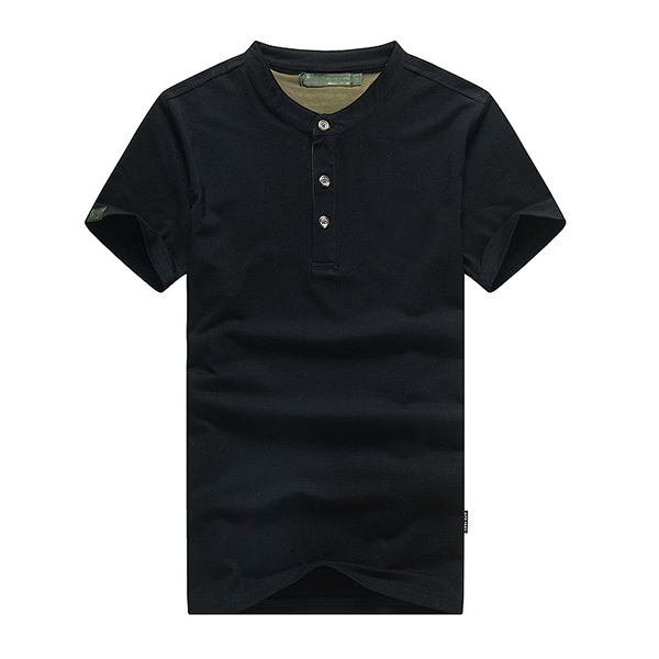 Summer Fashion Mens Short Sleeve T-Shirt Plus Size Solid Color Polo Shirts