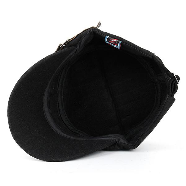 Mens Woolen Washed Solid Baseball Cap