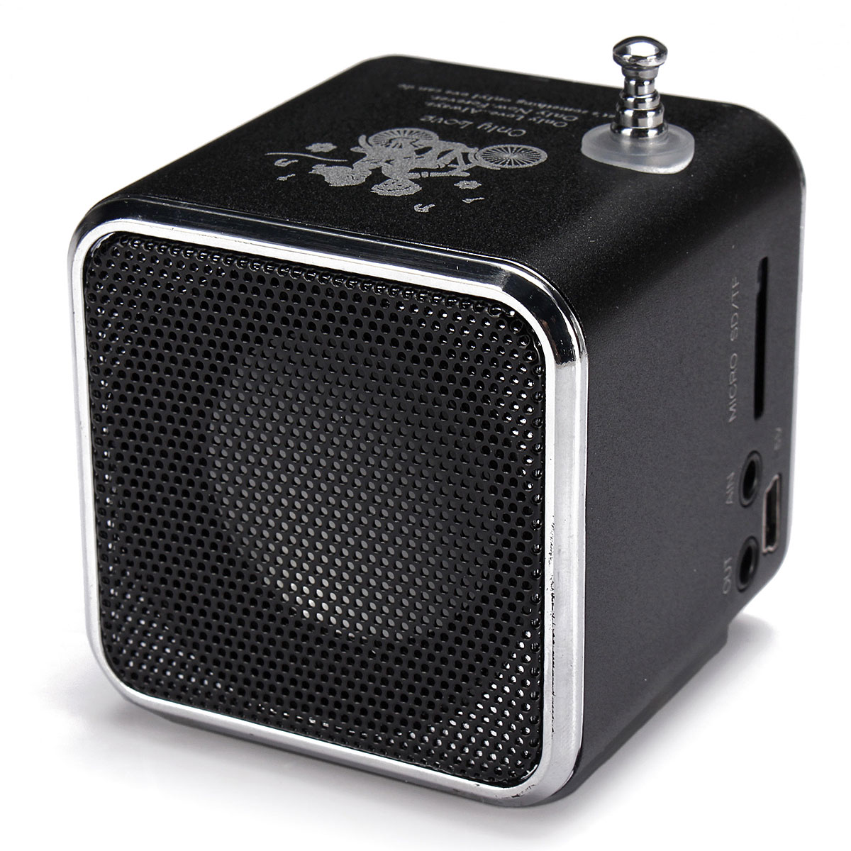 TD-V26 Portable Mini Stereo FM Radio MP3 Speaker Music Player Support Micro SD TF USB