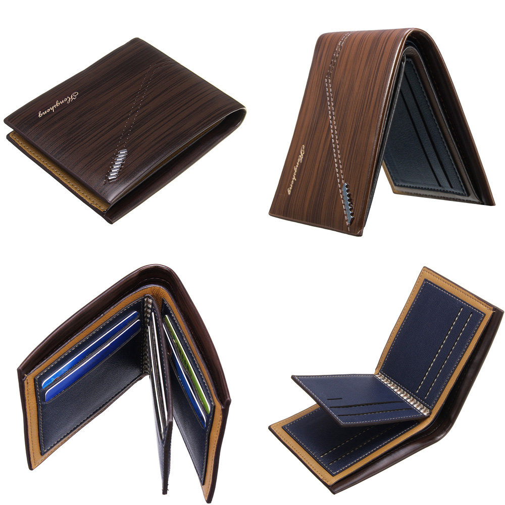 RFID Men Leather Wallet Money Credit ID Cards Holder Portable Pocket Purse Outdoor Travel