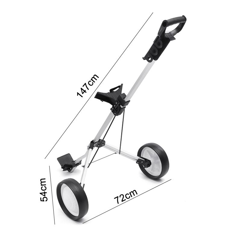 Golf Trolley Folding Two Wheel Golf Push Pull Cart Portable Golf Trailer