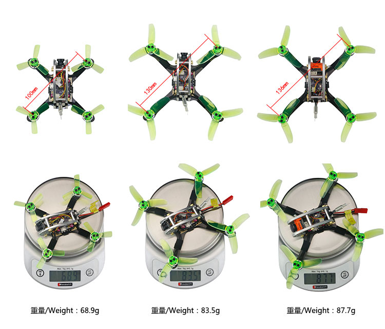 KINGKONG/LDARC FLY EGG V2 100 100mm RC FPV Racing Drone F3 12A 4in1 Blheli_S 25/100MW 800TVL PNP BNF