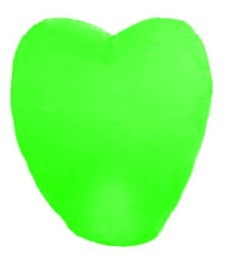 5X Love Heart Kong Ming Sky Lanterns Chinese Traditional Wishing Lamp Green Color