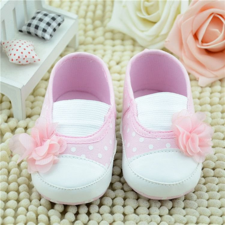 Pink Cute Baby Toddler Lovely Shoes Infant Girl Flower Cotton Soft Sole Anti Slip On Crib Flower Sneaker Shoes