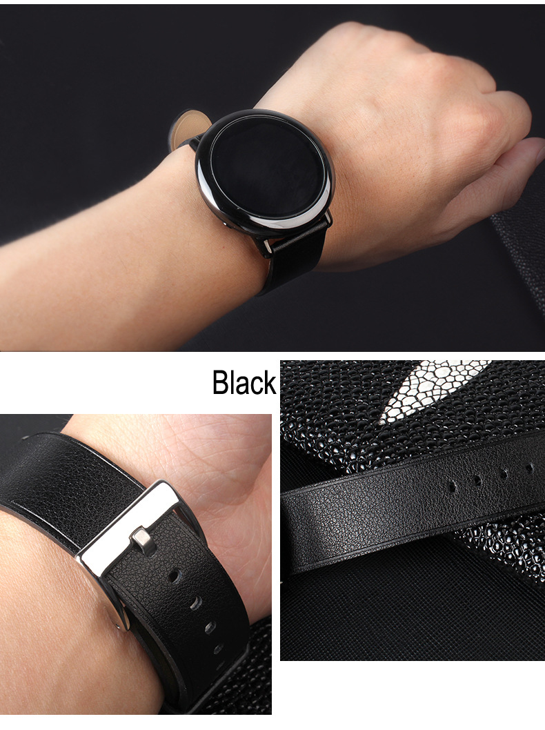 22mm Replacement Leather Watch Band Bracelet Strap For Xiaomi Huami Amazfit