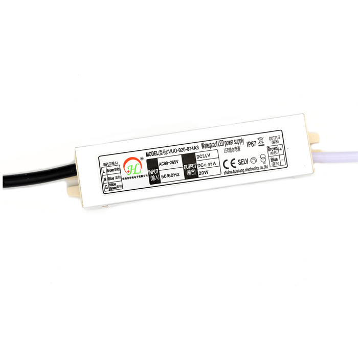 DC12V DC24V 20W Waterproof Power Supply Lighting Transformer LED Driver for Outdoor Use