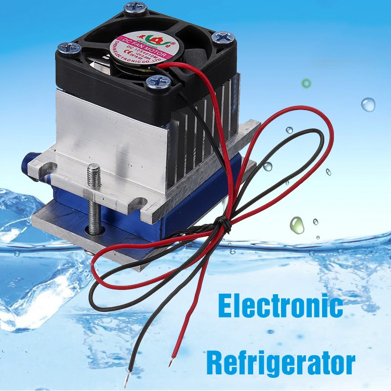 Thermoelectric Peltier Refrigeration Cooling System Kit Cooler Fan DIY