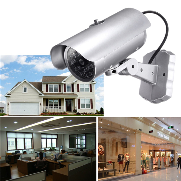 Invertable Waterproof Dummy IR Simulation Fake Camera Surveillance Security with Light LED Flashing