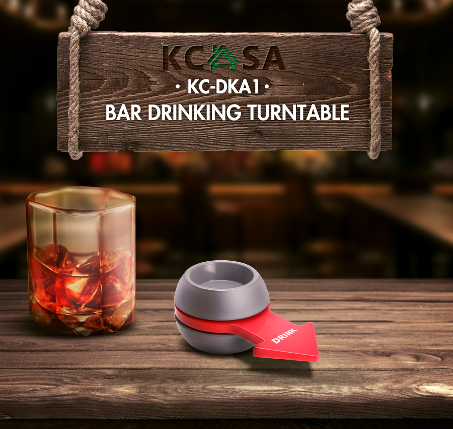 2PCS KCASA KC-DKA1 Original Spin The Shot Party Drinking Game Bars Fine W-ine Props Funny Game Board Game Toy