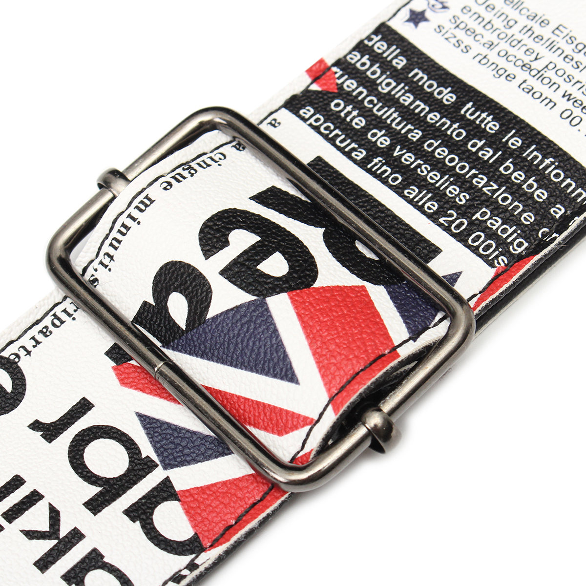British UK Flag Guitar Strap Soft PU Leather For Belt Electric Bass Adjustable