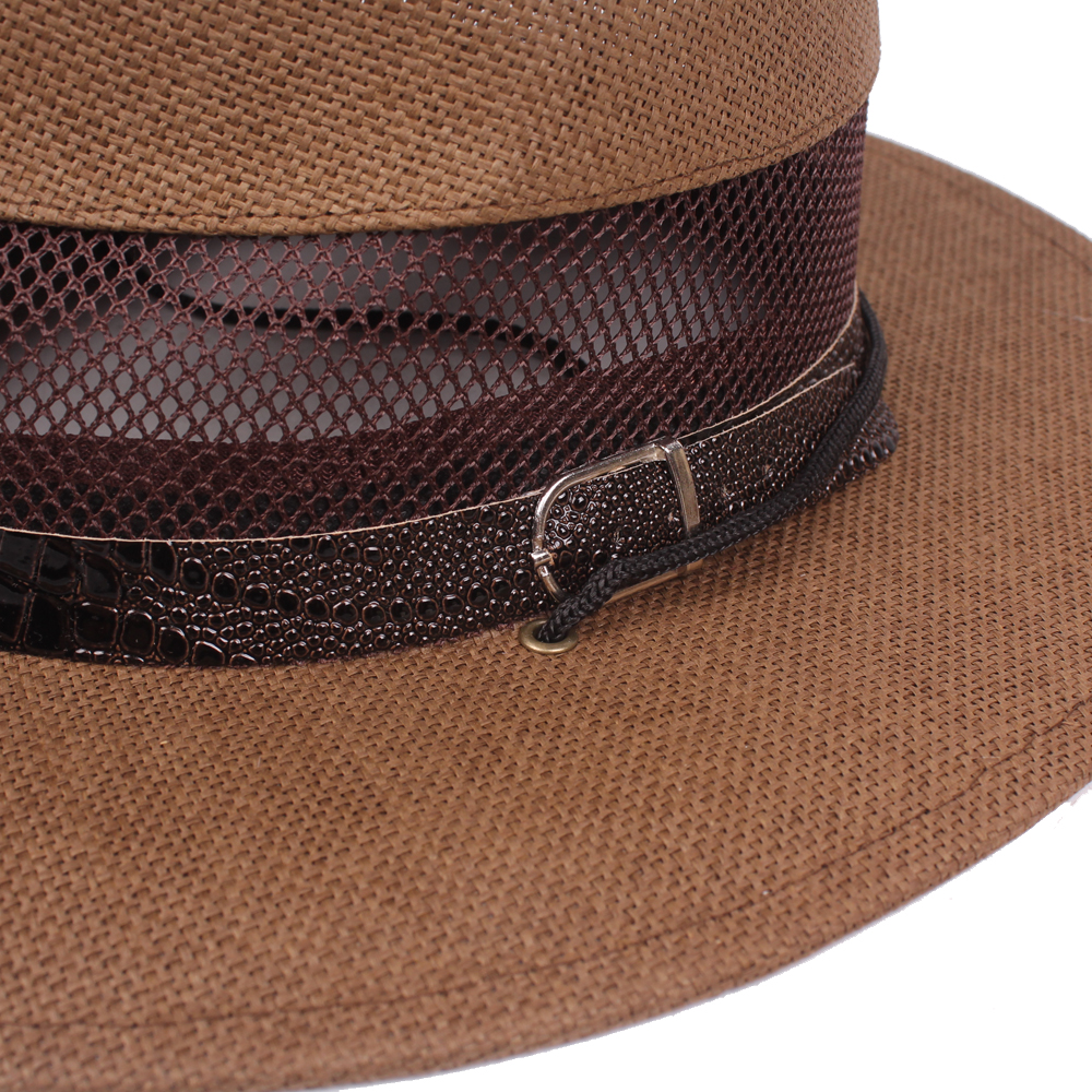 Men Summer Breathable Wide Brim Cowboy Hat