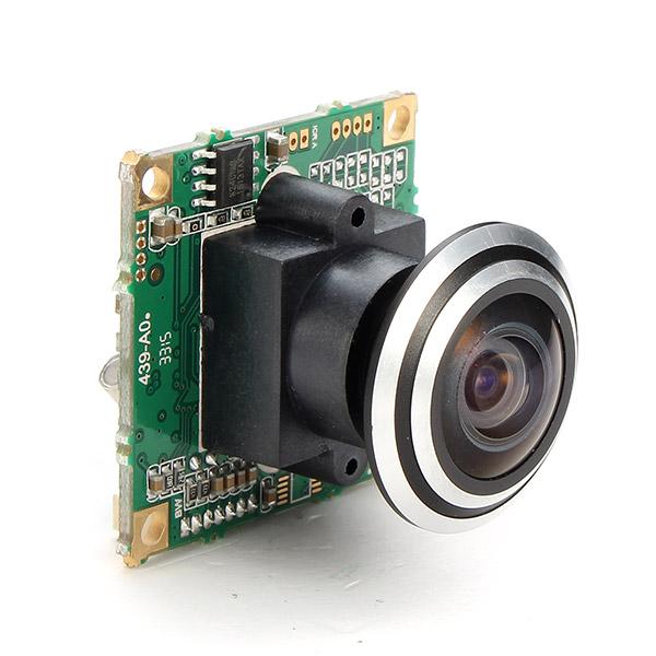 1000TVL 1/3 CCD 5MP 1.7mm 170 Degree Wide Angle Fisheye Lens HD FPV Camera NTSC PAL for RC Drone