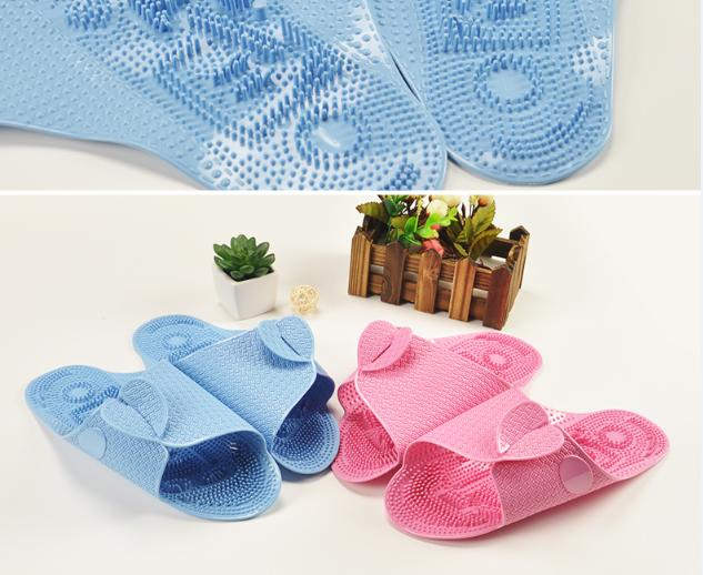 Unisex Outdoor Beach Slippers Non-slip Massage Portable Foldable Thick Sole Swim Travel