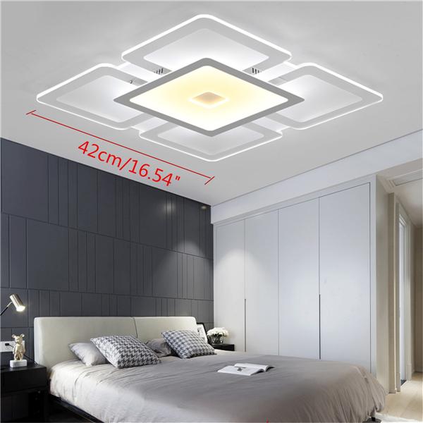 28W 42*42cm Acrylic Squarer Modern Ceiling Light Mounted Fixture for Home Living Room Decor AC220V